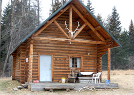 Chimney Rock Outfitters hunt camp cabin